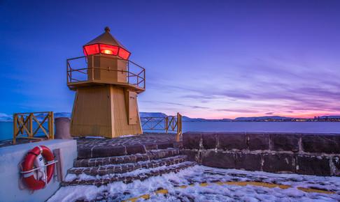 Markus Van Hauten, Der Leuchtturm von Reykjavik (Island, Europa)