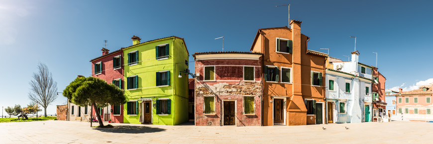 Michael Stein, Colorful houses at Burano (Italien, Europa)
