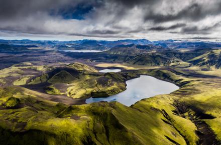 Lukas Gawenda, Südliches Hochland (Luftaufnahme, Island) (Island, Europa)