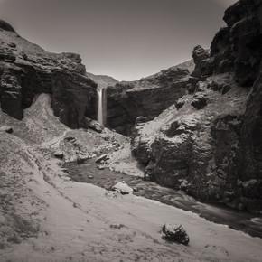 Dennis Wehrmann, Der Wasserfall Solheimajoekull auf Island (Island, Europa)