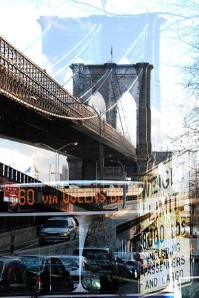 brooklyn bridge fotokunst. Black Bedroom Furniture Sets. Home Design Ideas