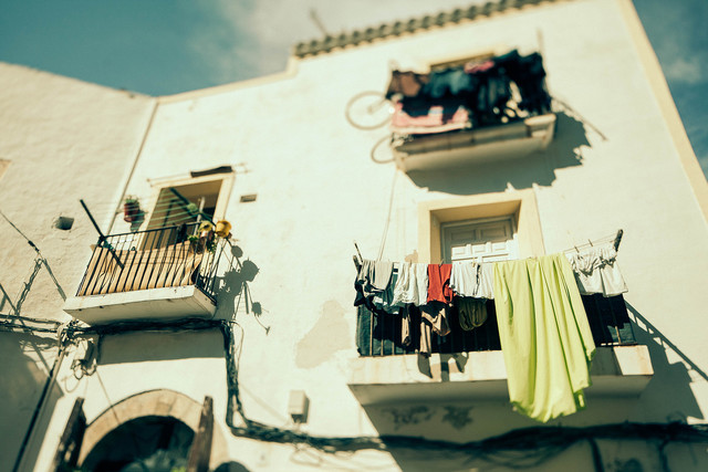 Drying Laundry - Fineart photography by Stefanie Lategahn