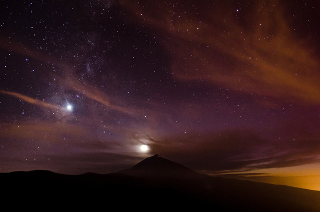 Stars and Sunset on Tenerife - Fineart photography by Marco Entchev