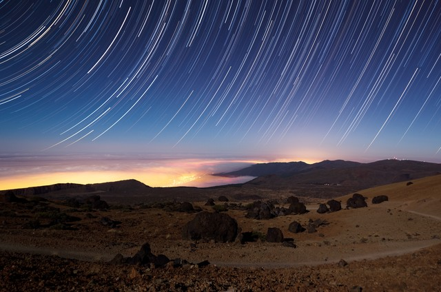 Huevos del Teide - Startrail - Fineart photography by Marco Entchev