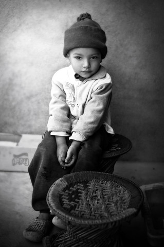 Boy in Kathmandu - Fineart photography by Victoria Knobloch