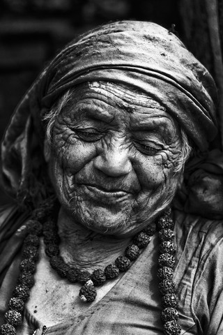 Smiling wrinkles - Fineart photography by Jagdev Singh