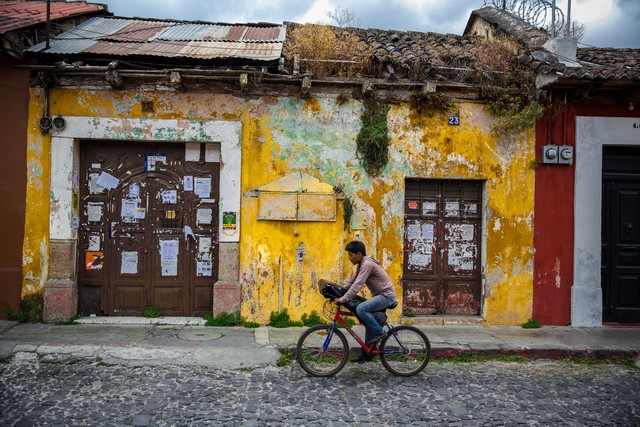 Antigua by bicycle - Fineart photography by Miro May