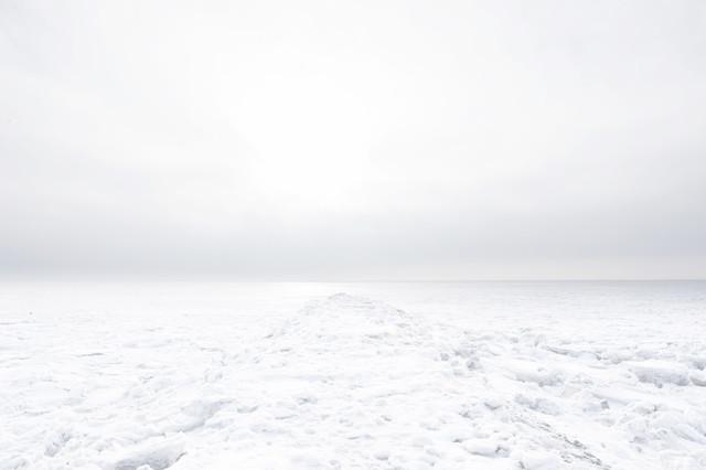White Frozen Embankment - Fineart photography by Schoo Flemming