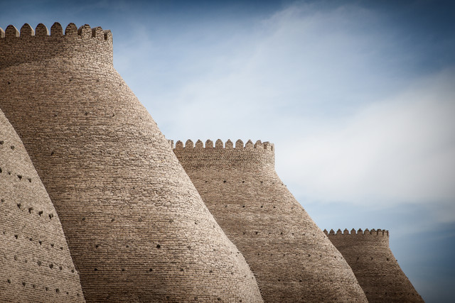 City wall in Bukhara - Fineart photography by Jeanette Dobrindt