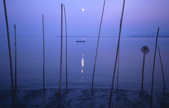 Daybreak at Thanlyin River - Fineart photography by Martin Seeliger