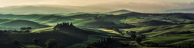 Tuscany - Val d'Orcia Panorama in the Morning - Fineart photography by Jean Claude Castor