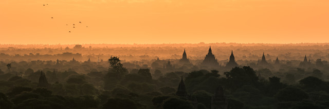 Burma - Bagan Birds Flying - Fineart photography by Jean Claude Castor
