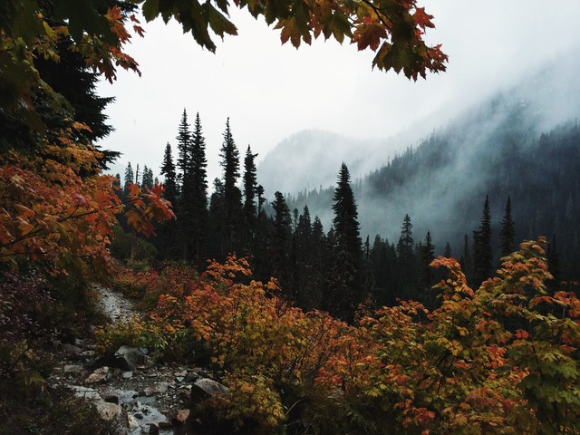 Fall Framed Mountains - Fineart photography by Kevin Russ