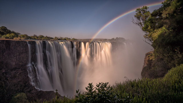 Rainbow Victoria Falls Zimbabwe - Fineart photography by Dennis Wehrmann