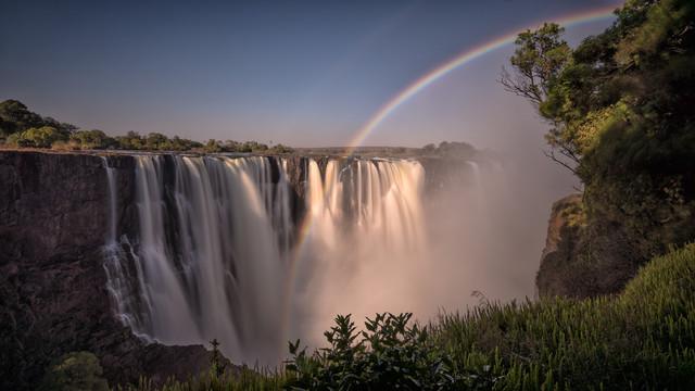 Rainbow Victoria Falls Zimbabwe - Fineart photography by Dennis Wehrmann