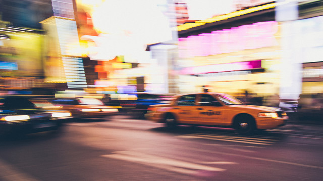 Taxi at Times Square - Fineart photography by Thomas Richter