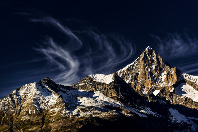 Bietschhorn in the Valais alps, Switzerland - Fineart photography by Franzel Drepper