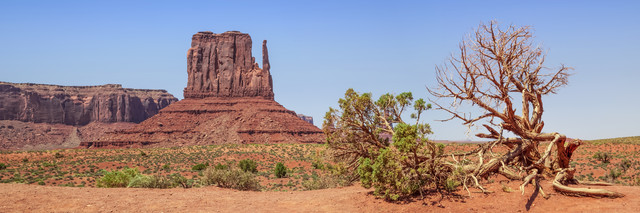 MONUMENT VALLEY Sentinel Mesa & West Mitten Butte - Fineart photography by Melanie Viola