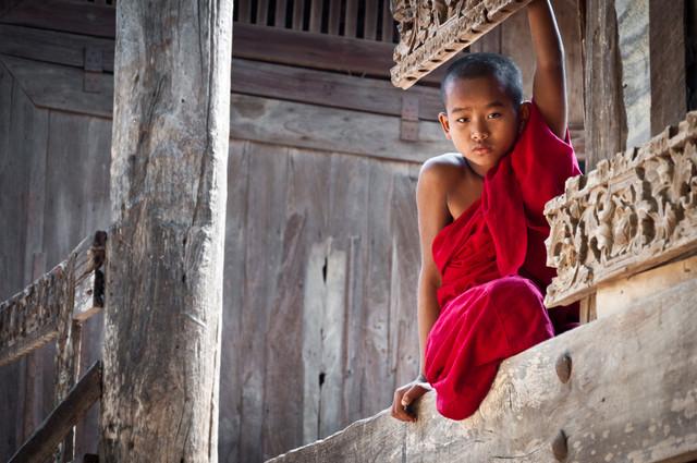 Novice Monk - Fineart photography by Staffan Scherz