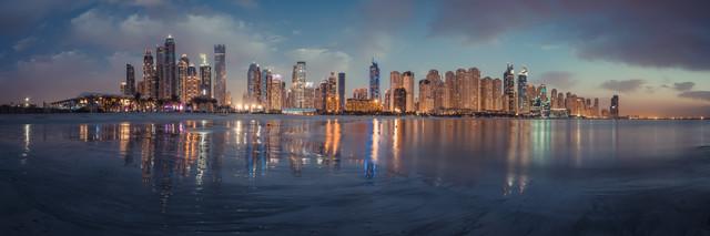 Dubai - Marina Skyline Panorama - Fineart photography by Jean Claude Castor