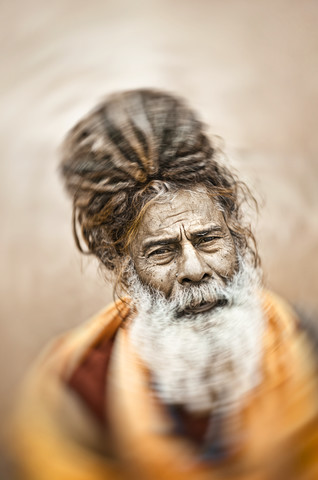 Holy man in Varanasi - Fineart photography by Victoria Knobloch