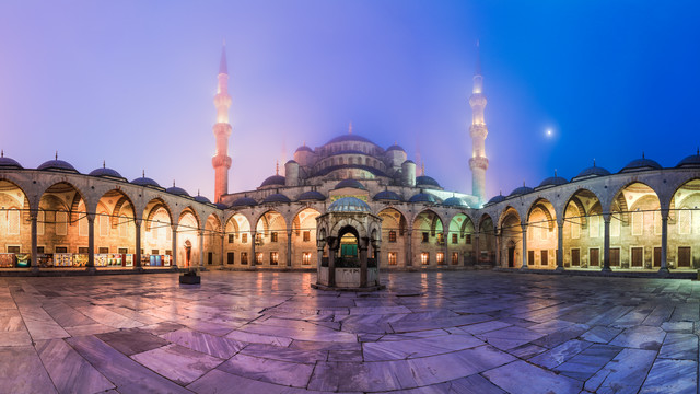 Istanbul - Sultan Ahmed I Mosque Panorama - Fineart photography by Jean Claude Castor
