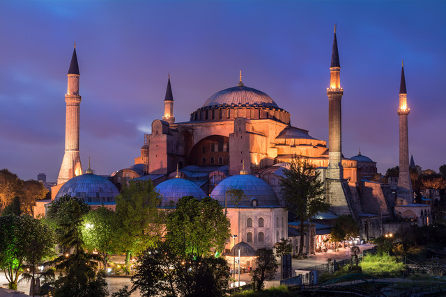 Istanbul - Hagia Sophia Mosque during blue Hour - Fineart photography by Jean Claude Castor