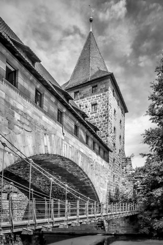 NUREMBERG Chained Suspension Bridge - Fineart photography by Melanie Viola