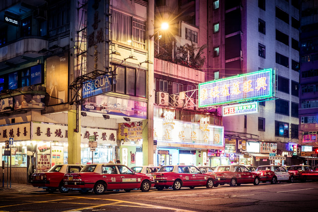 Far east taxi - Fineart photography by Roman Becker