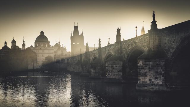 Charles Bridge Panorama Prague - Fineart photography by Ronny Behnert