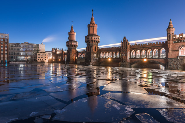 Berlin - Oberbaumbrücke on the Rocks - Fineart photography by Jean Claude Castor