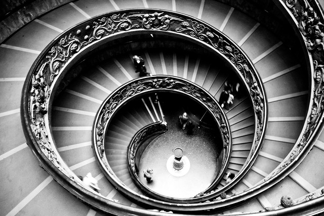 Vatican staircase - Fineart photography by Brett Elmer