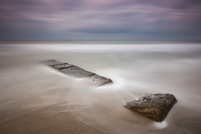 stone groin - Fineart photography by Holger Nimtz