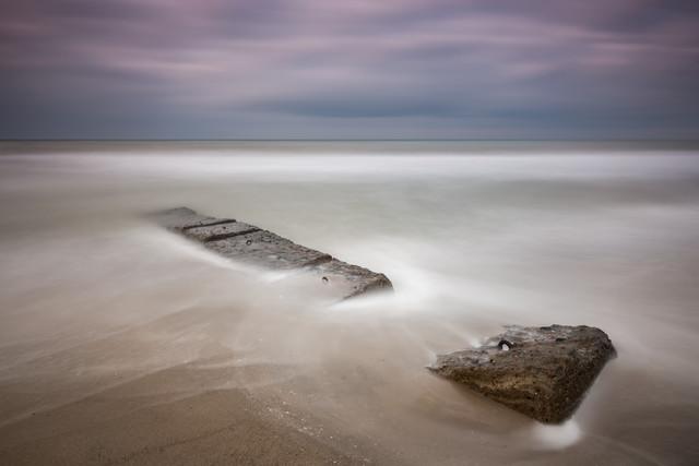 stone groin - Fineart photography by Holger Nimtz
