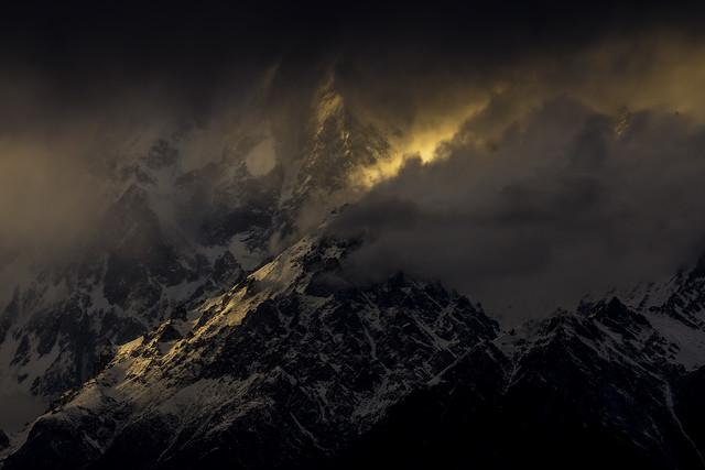 Drama at Ultar Sar Peak (7288m) - Fineart photography by Sher Ali