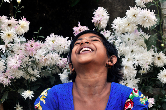 The girl and with bright smile - Fineart photography by Sankar Sarkar