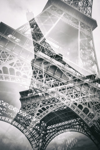 Eiffel Tower Double Exposure - Fineart photography by Melanie Viola