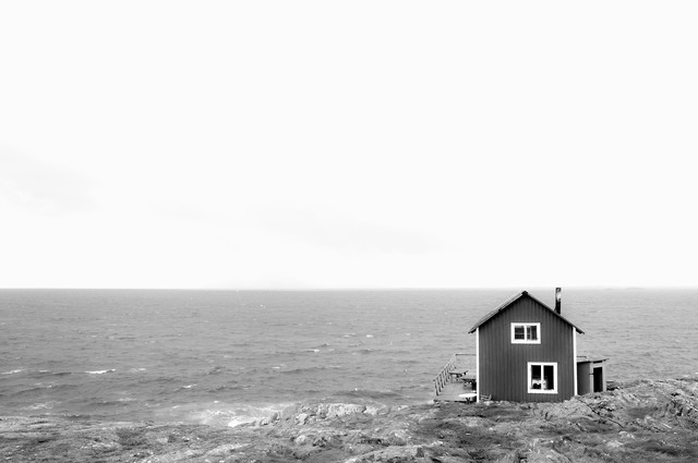 the house at the sea - Fineart photography by Daniel Schoenen