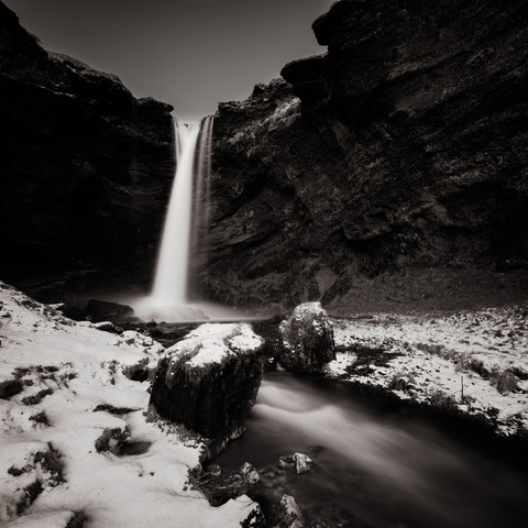 Waterfall Solheimajoekull - Fineart photography by Dennis Wehrmann