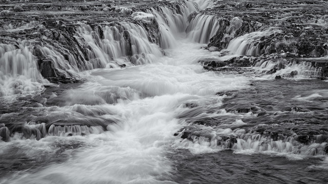 Long exposure of the waterfall Bruararfoss in Iceland - Fineart photography by Dennis Wehrmann