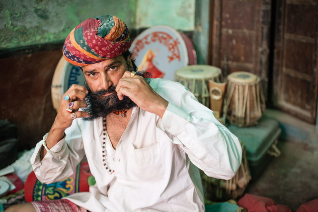Rajasthan Musician - Fineart photography by Johannes Christoph Elze