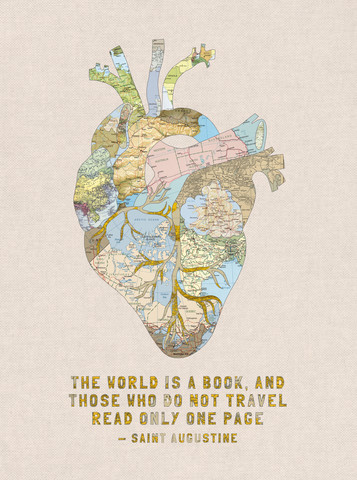 A Traveller's Heart + Quote - Fineart photography by Bianca Green