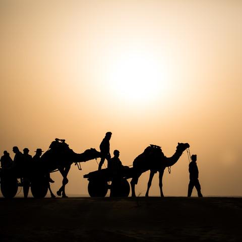 Silhouette in der Wüste Thar - Fineart photography by Sebastian Rost