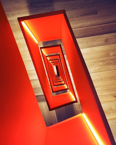 Red diagonal - Fineart photography by Roc Isern