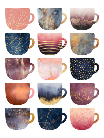 Pretty Coffee Cups 2 - Fineart photography by Elisabeth Fredriksson
