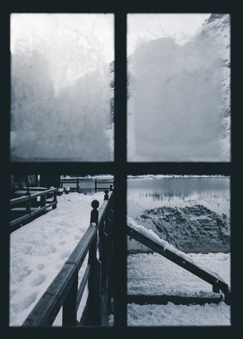 The window on the lake - Fineart photography by Silvio Bergamo