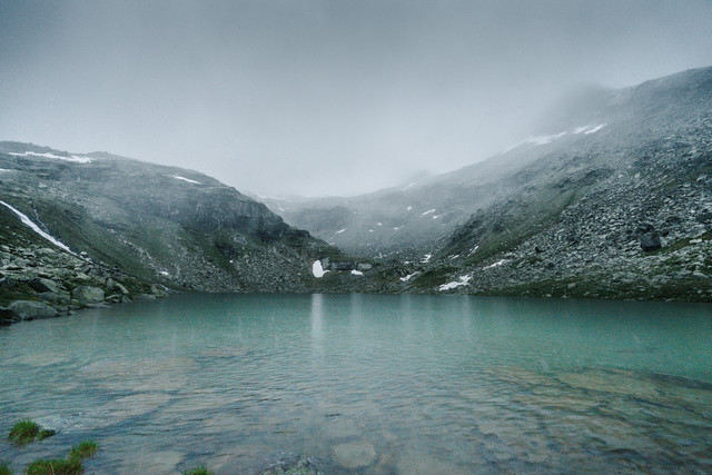 Foggy Mountain Lake - Fineart photography by Felix Finger