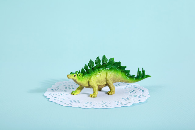 Doily Stegosaurus - Fineart photography by Loulou von Glup