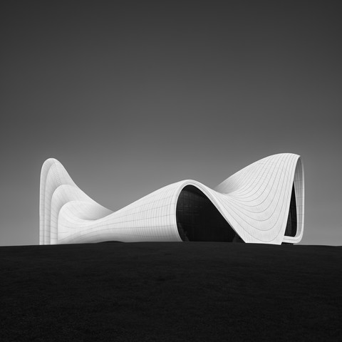 Heydar Aliyev Center Baku - Study 3 - Fineart photography by Ronny Behnert