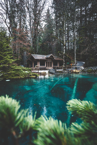 Rainy day at lake Blausee - Fineart photography by Johannes Hulsch